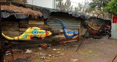 Street art in Morelia, Mexico, by Spaik