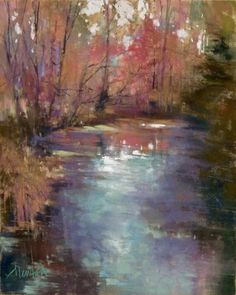 Morning Creek, pastel, 10 x 8 inches    Available   The Backstory : It was nearly time to leave for my Friday painting group and I wasn't...