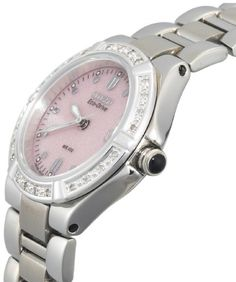 Citizen Women's EW0890-58X Eco-Drive Riva Diamond Accented Stainless Steel Watch
