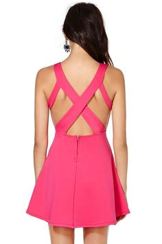 Nika Dress - Going Out | Fit-n-Flare | Solid | Basic | Dresses | Bright and Graphic | Dresses |  | Clothes