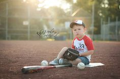 Baseball theme toddler session - using bats, balls and mits as props, backlit child photography  www.facebook.com/nicolecoffieldphotography