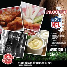 Si hoy tienes flojera de cocinar y quieres disfrutar tu partido de la #NFL, entonces te recomendamos pedir unas alitas a domicilio del #Restaurante Ala de Volada