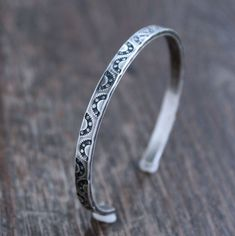 Sterling Silver Cuff Bracelet, Silver Bangle Bracelets, Thing 1, Surface, Rustic, Products, Country Primitive, Silver Bangles, Retro