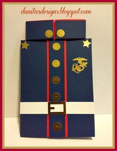 Danita's Designs!!! : Birthday Card for U.S. Marine