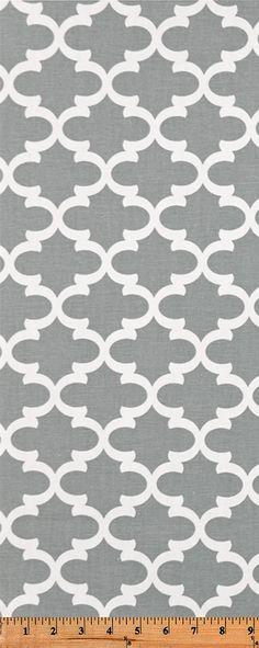 Quatrefoil Fabric Fulton Cool Gray made by Premier Prints Inc