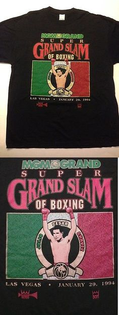 Boxing 1227: Vintage - Julio Cesar Chavez Vs. Frankie Randall Boxing T-Shirt 1994 New Nwot -> BUY IT NOW ONLY: $58.95 on eBay!