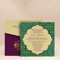 Garden Of Abundance Green: Reception Islamic Cards Add a touch of elegance to your Nikah with this handcrafted Islamic Wedding Card design #inksedge #islamicwedding #islamicweddinginvitations #Indianweddinginvitations #weddinginvitations