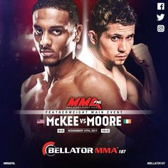"""It's #fight day #MMA fans! Check out the #Bellator187 card now! #Fighter Sinead Kavanagh missed weight by 3.8lb. Her bout against Maria Casanova will still go ahead at catchweight. . .  AJ """"Mercenary"""" Mckee @ajmckee101 vs. Brian """"The Pikeman"""" Moore @brian_pikeman_moore  Sinead Kavanagh @sineadkavanagh86 vs. Maria Casanova   Kevin """"Baby Slice"""" Ferguson Jr. @babyslice242 vs. Fred """"The Demon"""" Freeman   Relentless Charlie Ward @relentlesscharlieward vs. John """"The Baby Faced Assasin"""" Redmond…"""