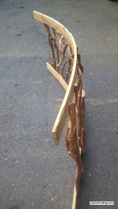 How to Make Curved Deck Railing  rustic railing http://awoodrailing.com