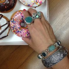 Celebrating National Doughnut Day at the Stephen Dweck Jewelry design studio.