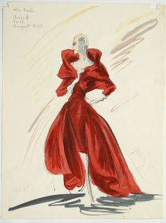 Edith Head costume sketch, production unknown