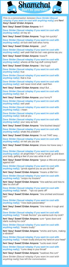 A conversation between fem! Sexy! Sweet! Eridan Ampora and Dave Strider (Sexual roleplay if you want im cool with anything really]