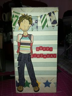 Boy card from Jullie Nutting stamp