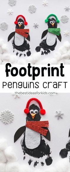 Footprint Footprint Penguin Craft - this is so cute! Such a cute Winter craft for kids!Footprint Penguin Craft - this is so cute! Such a cute Winter craft for kids! Winter Crafts For Toddlers, Winter Activities For Kids, Animal Crafts For Kids, Easy Crafts For Kids, Christmas Crafts For Kids, Baby Crafts, Toddler Crafts, Preschool Crafts, Preschool Kindergarten