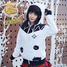 Anime Kantai Collection Casual Hoodies Midway Hime Princess White Hooded Sweatershirts Coat Jacket Unisex