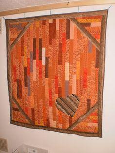 Quilt, ca,130 x 146 cm groß, Top aus Baumwolle, Rücken aus Fleecestoff, hanfgequilltet  Baumwolle 40% Polyester 60%