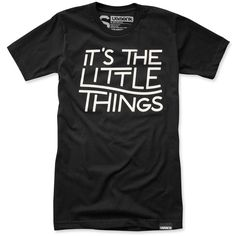 IT'S THE LITTLE THINGS (BLACK) | Ugmonk