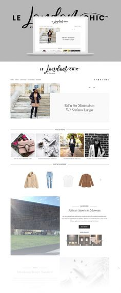 Le London Chic blog design