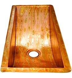"Rectangular Under Mount Bar Copper Sink with 1"" Flat Rim - 24 x 10 x 6"" - Gauge 16 - SANTA YNEZ Boutique Design, A Boutique, Kitchen Garbage Disposal, Copper Basket, Copper Vessel Sinks, Prep Sink, Copper Bar, Condo Remodel, Santa Ynez"