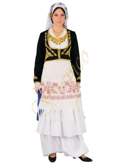 Greek Traditional Ethnic Folklore Costumes made in Hellas Greece by Stamco Greek Traditional Dress, Traditional Outfits, Ethnic Dress, Folk Costume, Macedonia, Dance Dresses, Amazing Women, Feminine, My Style