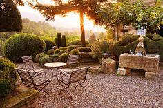 La Louve - the private garden of the late Nicole de Vésian in Bonnieux, Provence, France.