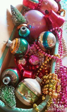 Vintage ornaments  #christmas  @TheDailyBasics ♥♥♥