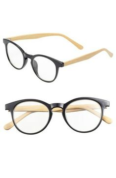 Nerdy Swag! FE NY Faux Wood Opticals  #Nordstrom $22