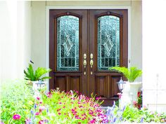 Estate Exterior Wood Front Entry door DbyD-1066 Modern Front Door, Front Entry, Entry Doors, Front Doors, Glass Front Door, Glass Door, Leaded Glass, House Front, Curb Appeal