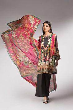 Sapphire 3 Piece Winter Tale B Custom Stitched Printed Suit - - Pink Pakistani Designers, Pakistani Dress Design, Pakistani Salwar Kameez, Winter Collection, Designer Dresses, Digital Prints, Kimono Top, Pink, Sapphire