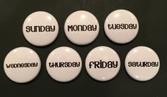 Hey, I found this really awesome Etsy listing at https://www.etsy.com/listing/226968372/days-of-the-week-magnets-for-calendars