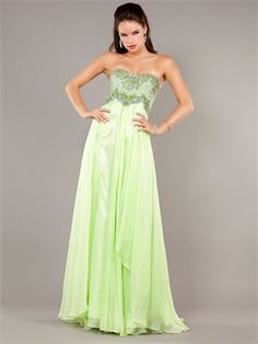 Sheath Strapless Sweetheart Beaded Bodice Chiffon Prom Dress PD11264 www.dresseshouse.co.uk $139.0000