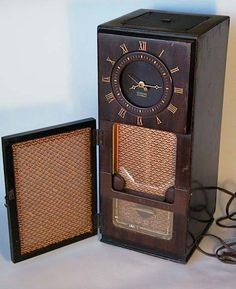 Antique Philco Transitone Tube Clock Radio by HoardersShop on Etsy, $85.00