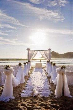 decoracion de boda sencilla para boda de playa - Buscar con Google