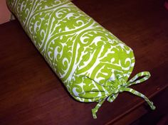 Long bed pillow neck roll pillow  lime green and by kirtamdesigns, $150.00