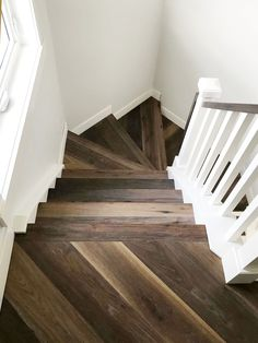 Transitional staircase for modern farmhouse