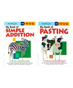 Loving this My Book of Simple Addition & Pasting Workbook Set on #zulily! #zulilyfinds