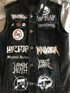Grind/Death/Sludge/Core vest in progress