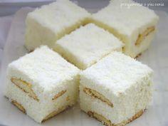 ciasto śnieżka, pianka kokosowa,ciasto bez pieczenia Vanilla Cake, Feta, Ale, Cheesecake, Food And Drink, Baking, Sweets, Essen, Gummi Candy