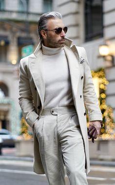 Older Mens Fashion, New Mens Fashion, Mens Fashion Suits, Classy Mens Fashion, Italian Mens Fashion, Men's Fashion, Well Dressed Men, Sharp Dressed Man, Turtle Neck Men