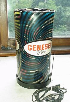retro spinning lamps | Genesee Beer Motion Lamp Psychedelic and 33 similar items