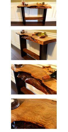 LiveEdgeHardMaple  Sofa Table- Rescued Workbench