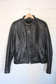 CampCreekVintage Vintage Black Leather Brooks Cafe Racer Motorcycle Jacket