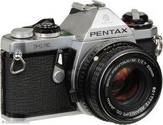 my uncle just gave me his old pentax me w/ 50mm lens. sweeeeeeeeet :D
