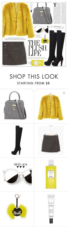 """""""YESSTYLE.com"""" by teryblueberry ❤ liked on Polyvore featuring Sunny Eyewear, Fendi, Louis Vuitton, Milky Dress, Winter, yesstyle and productPageSectionTop"""