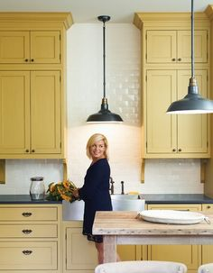Yellow cabinets for the kitchen