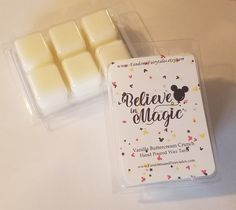 Believe in Magic Wax Melts and Candles - Vanilla Buttercream Crunch Scented Disney candle disney wax melt magic candle magic kingdom Diy Wax Melts, Scented Wax Melts, Glitter Candles, Tin Candles, Diy Candles Ingredients, Wax Tarts, Paraffin Wax, Vanilla Buttercream, Burning Candle