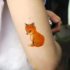 Cute Little Fox Tattoo Idea
