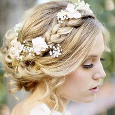 Love this! But instead of the braid, I would have a flower headband right there to match what my mother had on her wedding day!