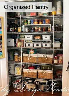 keep your pantry organized, cleaning organization, closets pantries, storage shelving, Baskets help keep your pantry items in the right place Pantry Storage, Pantry Organization, Kitchen Storage, Organized Pantry, Pantry Ideas, Organizing Ideas, Pantry Baskets, Kitchen Ideas, Kitchen Drawers