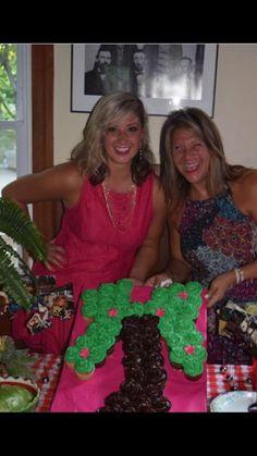 Palm tree cup cake.   Cake xo